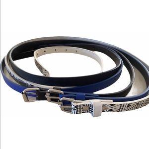 """Three Skinny Belts XL (47"""")"""